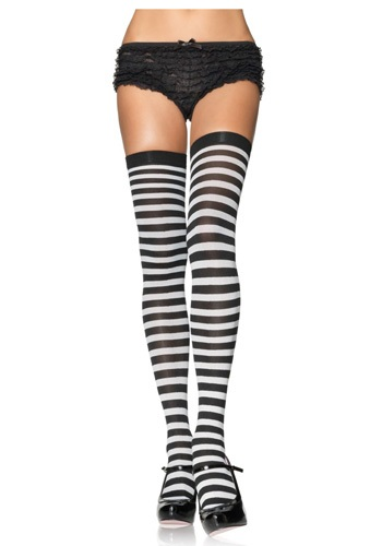 Striped Black and White Stockings