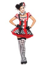 Naughty Harlequin Villainess Costume