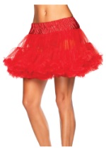 Womens Plus Size Red Tulle Petticoat