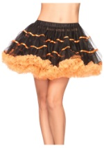 Black-Orange Tulle Petticoat