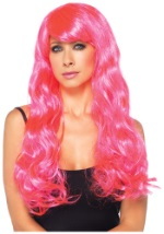 Bright Pink Neon Long Wig