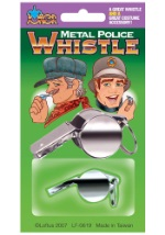 Police Costume Metal Whistle