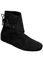 Men's Black Ankle Moccasins
